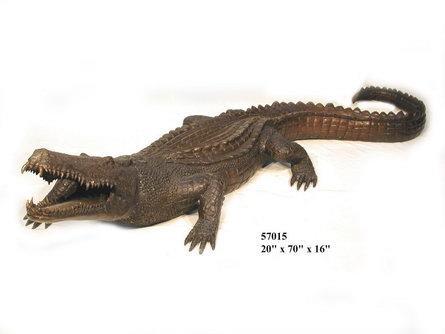 Bronze Alligator Fountains Bronze Crocodile Fountains - AF 57015-F