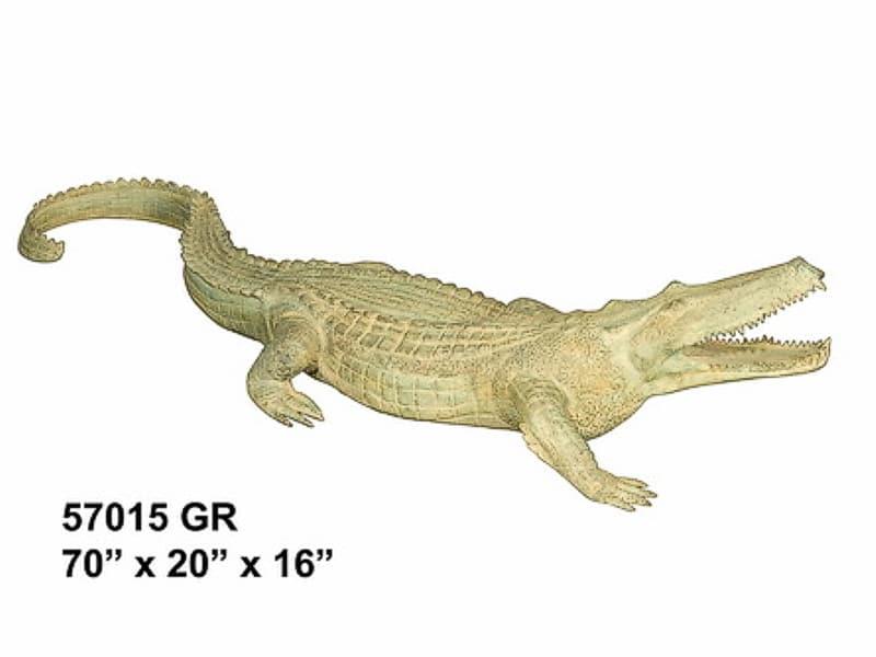 Bronze Alligator Fountains Bronze Crocodile Fountains - AF 57015GR-F