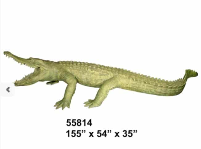 Bronze Alligator Fountains Bronze Crocodile Fountains - AF 55814GR-F
