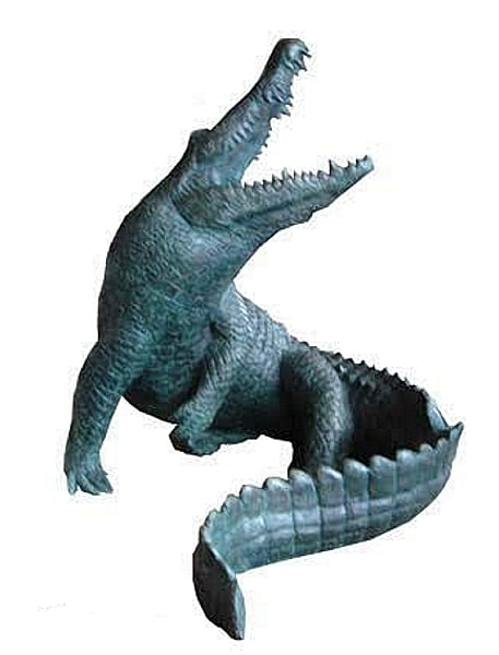 Bronze Alligator Fountains Bronze Crocodile Fountains - DK 2502-F