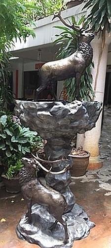 Bronze Elk Fountain - DD 214-S